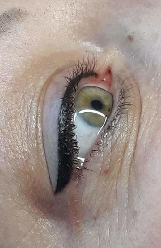 Перманентный макияж надресничных стрелок - sisters-club